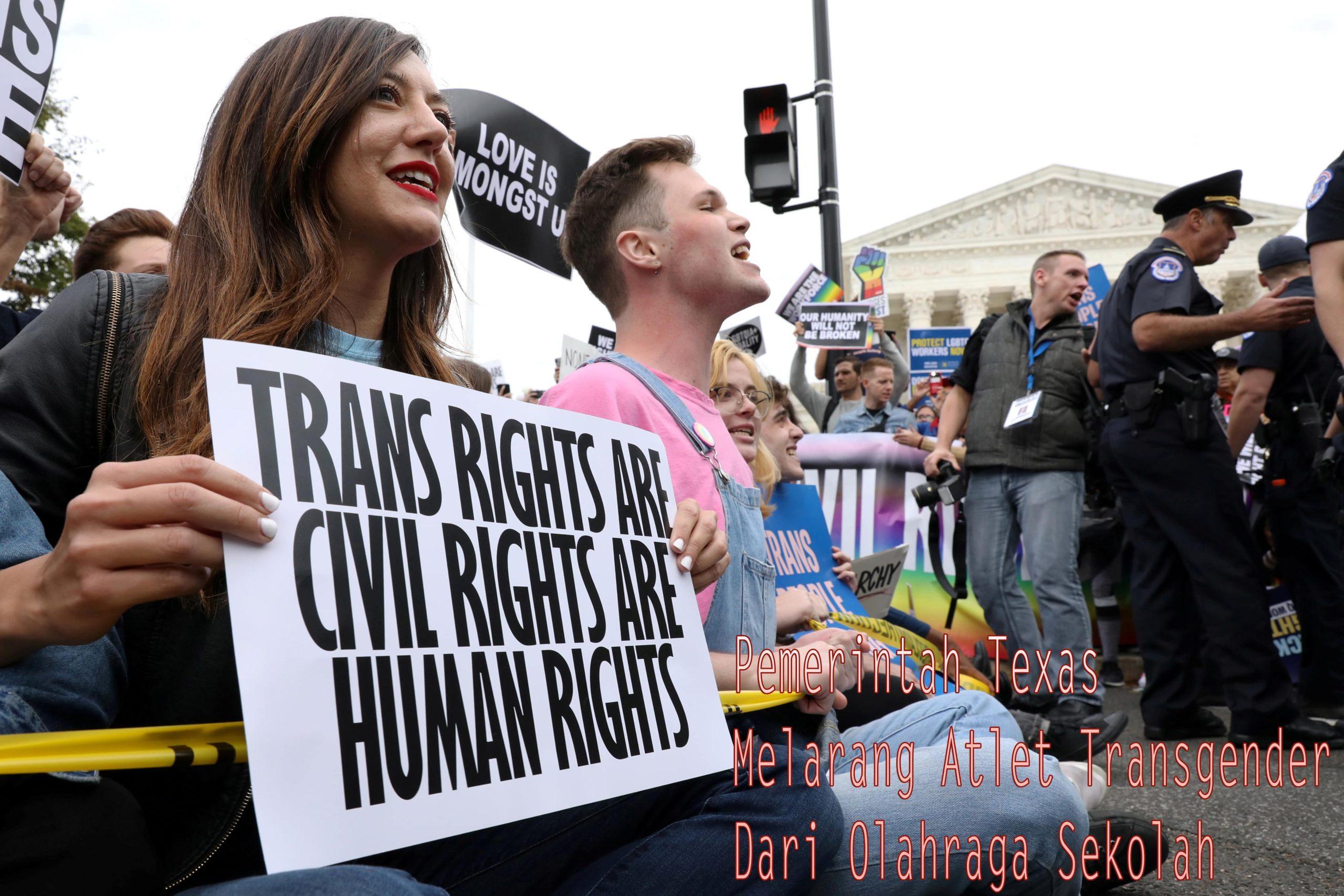 Pemerintah Texas Menandatangani Undang-Undang Larangan Atlet Transgender